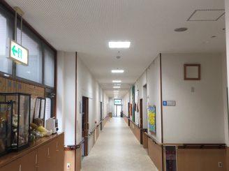 H31年1月31日 更新! 福山市駅家町 内装天井塗装工事1500㎡ (夜間工事)