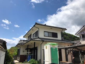H31年4月27日 更新! 岡山県里庄町 外壁塗装替工事 K様