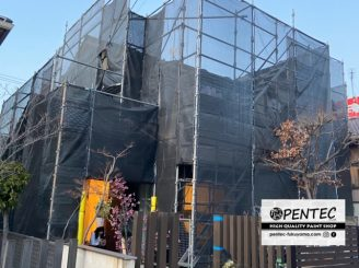 令和2年3月19日~ 福山市伊勢丘 外壁塗装替工事