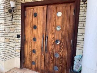 令和2年2月~ 福山市 木製扉塗装リニューアル工事