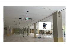 岡山県商業施設 天井・壁塗装 2000㎡
