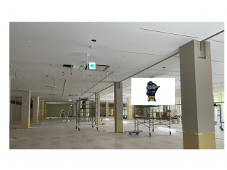 令和3年5月7日 更新! 岡山県商業施設 天井・壁塗装 2000㎡
